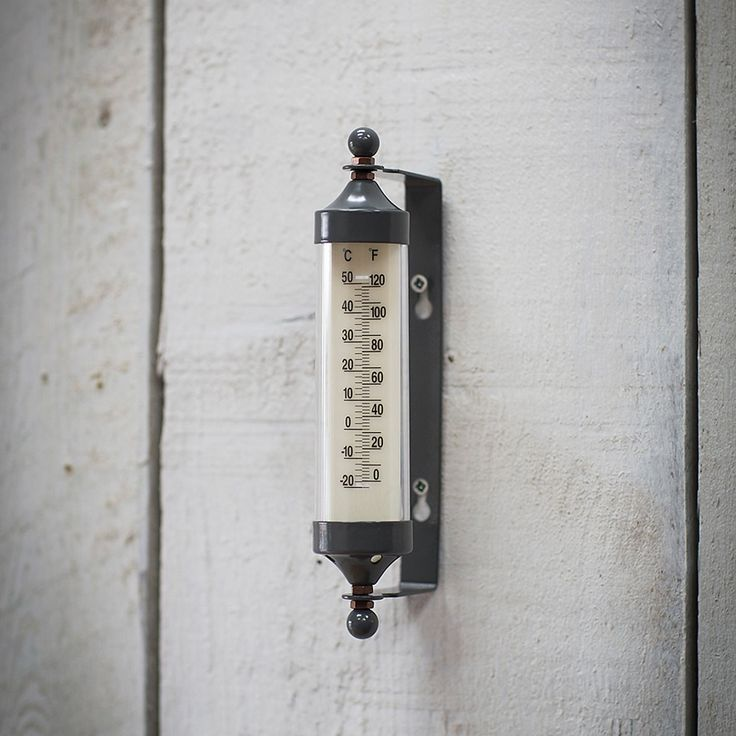Small Tube Thermometer In Charcoal