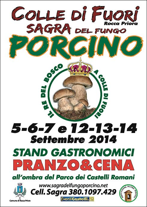 Sagra del Fungo Porcino Castelli Romani Rocca Priora Colle di Fuori 2014