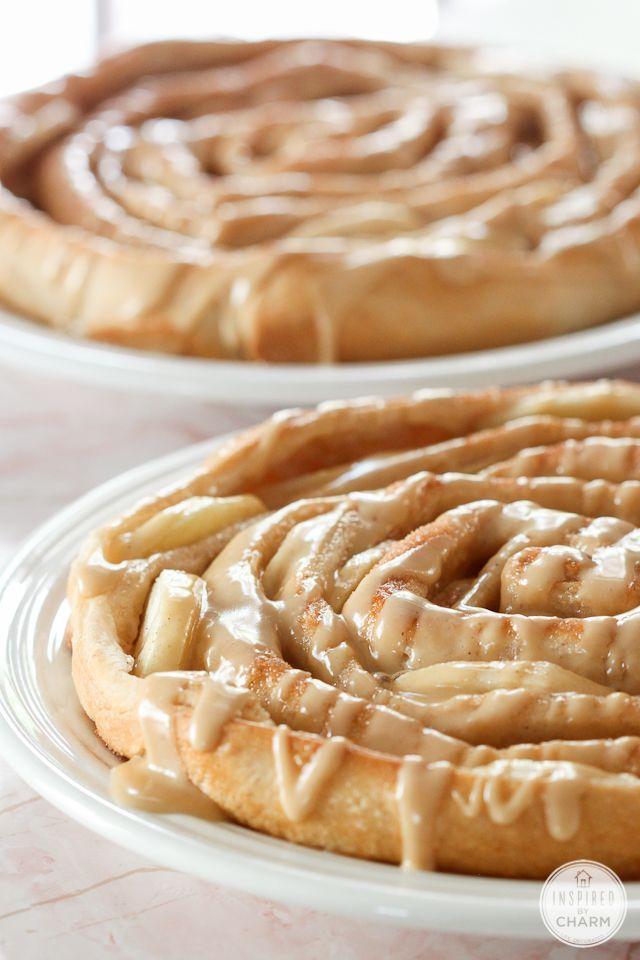 Apple Bread with Caramel Apple Glaze