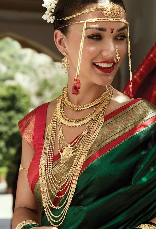 Tanishq Maharashtrian Bride Wedding Jewellery Collection(4)