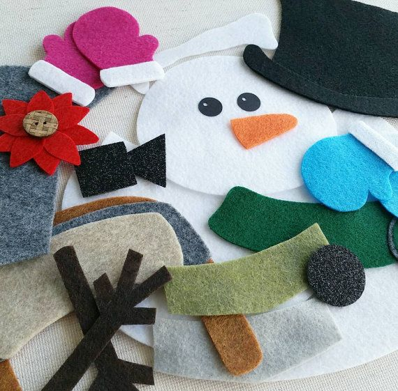 Build-a-Snowman: Felt Play Set (Snowman Body Included