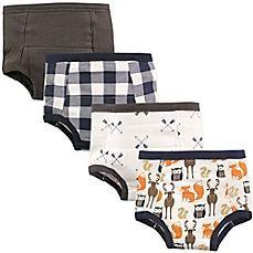Hudson Baby® 4-Pack Woodland Toddler Training Pants in Brown #babytrainingpants