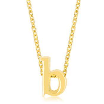 Golden Initial B Pendant