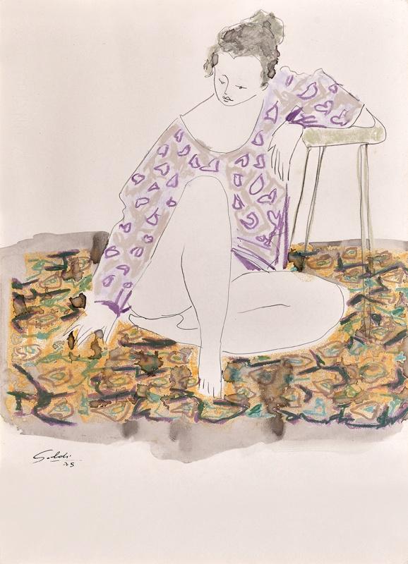 la blusa lila. Soldi, Raul, Argentinian painter