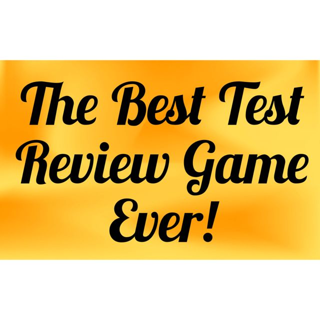 Señora Baxter's Spanish Class: The Best Review Game You'll Ever Play