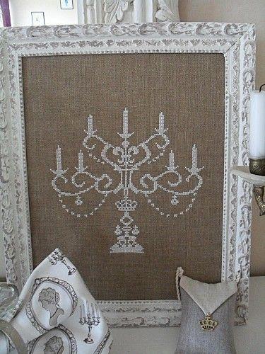 Le chandelier royale cross-stitch - free