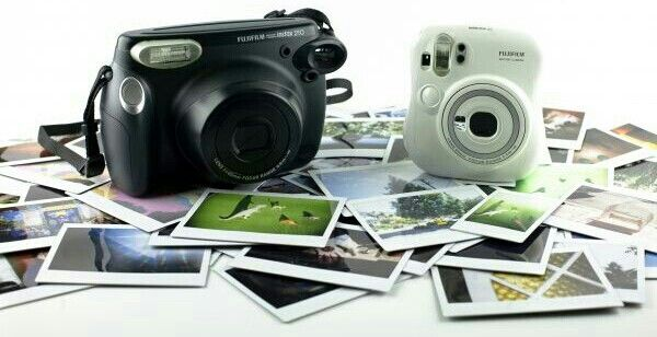 Instax 210 wide and Instax 25 mini camera's