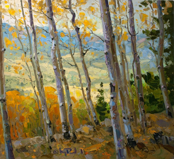 Aspen Trees - Oil Painting by Gregory Packard