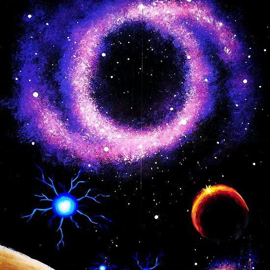 Ring nebula, space painting