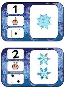 * Cijderkaarten sneeuwvlokken, 1-10
