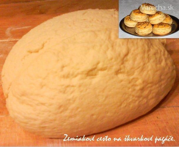 Zemiakové cesto na škvarkové pagáče, ale aj na rôzne sladké pečivo (fotorecept) - Recept