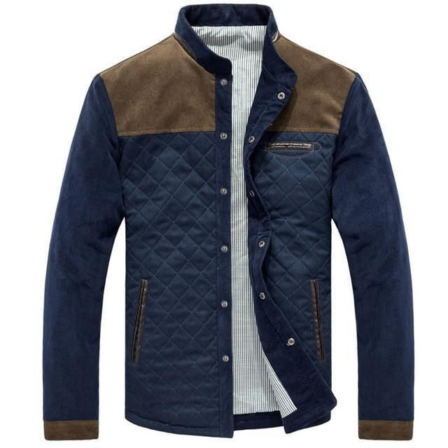 Fashion Brand Warm Men's Jackets Blue Grey Jackets