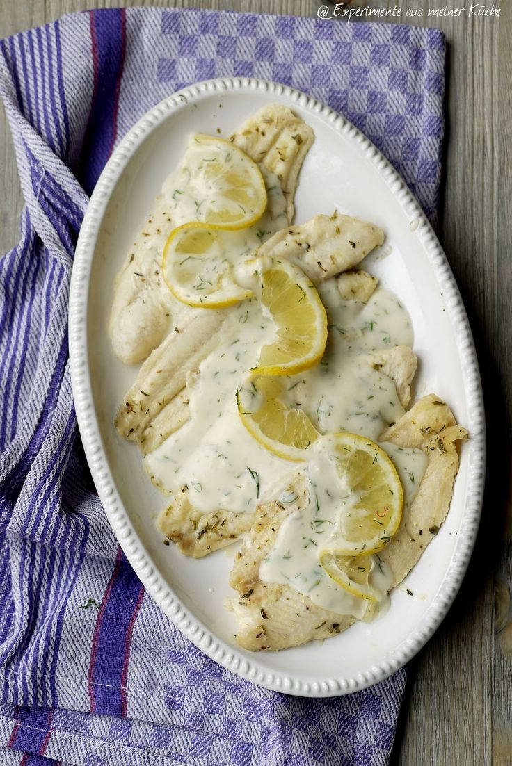 Experimente Aus Meiner Kuche Zitronen Dill Sosse Zu Backofenfisch If You Want To Cook Fresh Fish In The Most Delicious Wa In 2020 Dill Sauce Fresh Fish Recipes Food