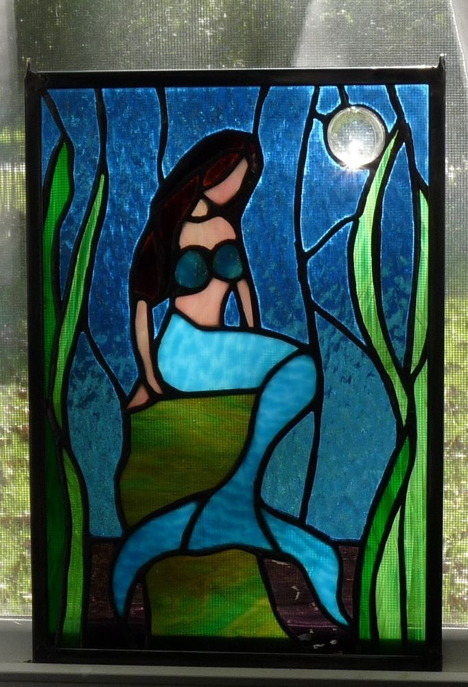 1000 images about stained glass mermaids on pinterest. Black Bedroom Furniture Sets. Home Design Ideas