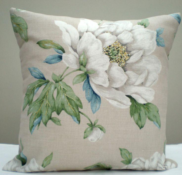 Laura Ashley Fabric White Floral Linen Cotton 16