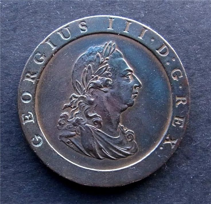 England, George III, 2-pence, 1797, ocirculerad / uncirculated via Artefacts. Click on the image to see more!
