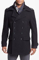 7 Diamonds 'Glasgow' Trim Fit Double Breasted Coat ~ SAVE 55%
