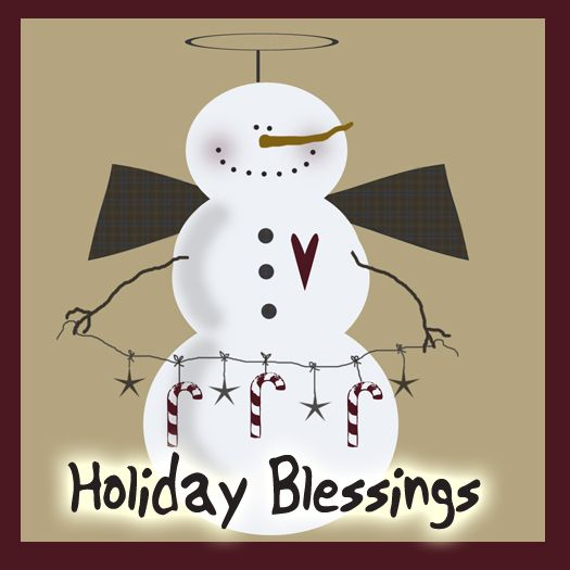 Holiday Blessings Snowman Drawn By Mandie Lancaster Of  Lifeinthecraftlanewithmandie