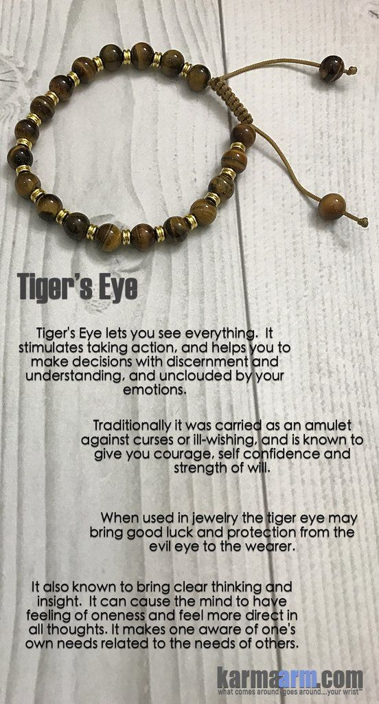 Strength Of Will Tiger S Eye Yoga Chakra Bracelet
