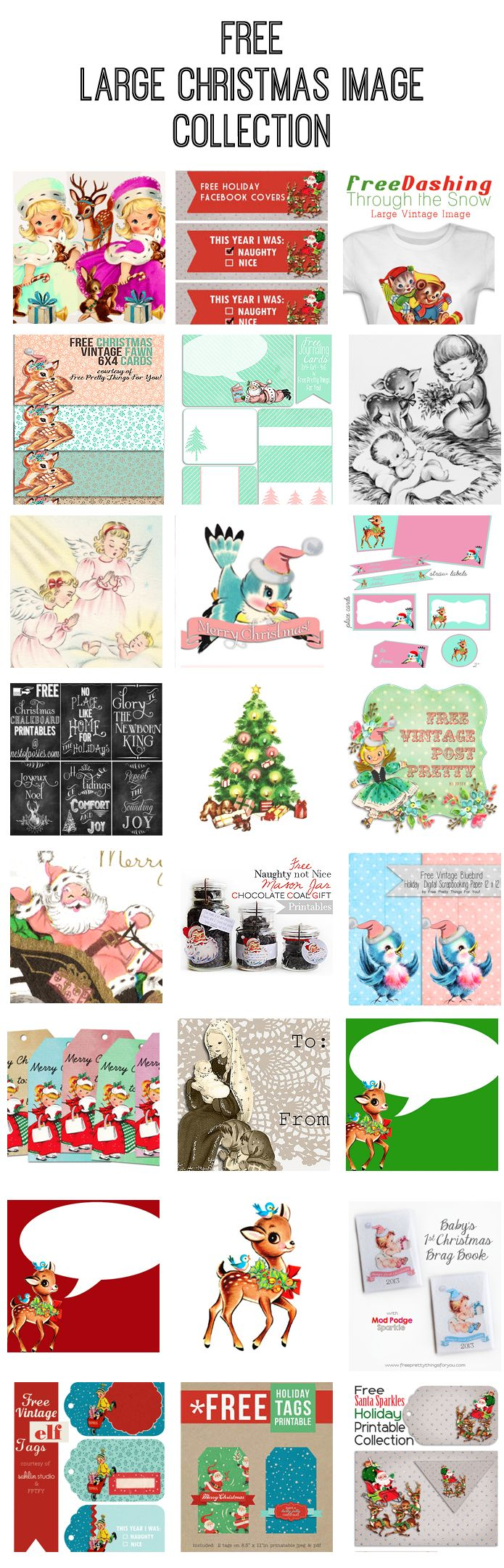 Christmas Images: Free Pink Santa Clip Art - Free Pretty Things For You