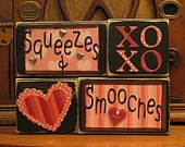 917035698b07ef42c1523ef90043d829 funny valentine valentine ideas - Valentines Day Decor Valentine Blocks by PunkinSeedProduction