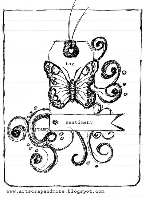 a sketch & a card_papillon_Tag_HA by alexandra s.m., via Flickr