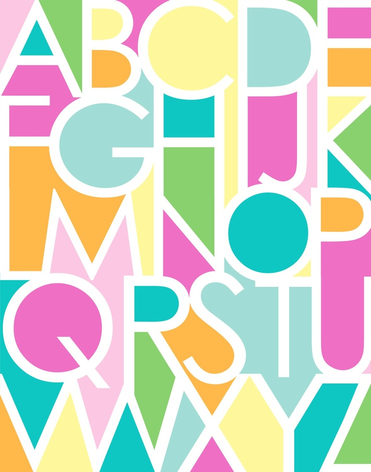 Negative space alphabet