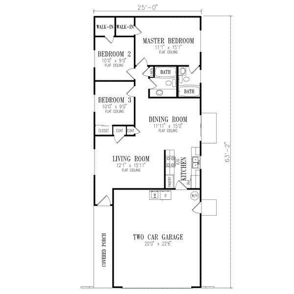 Traditional Style House Plans 1026 Square Foot Home 1 Story 3 Bedroom And 2 Bath 2 Garage Stalls By Ranch Style House Plans House Plans Ranch Style Homes Quik house floor plan