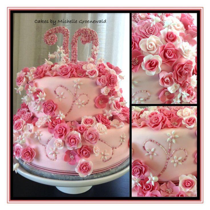 Small rose cake