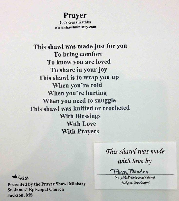 Prayer Shawl Poem                                                                                                                                                     More