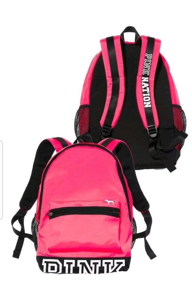 afb72d327f Victoria s Secret PINK NATION Campus HOT PINK Backpack Bookbag School  College  VictoriasSecret  Backpack