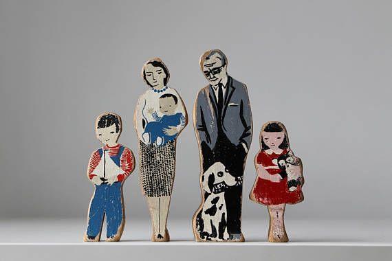 Walter Czuczka Family / Wooden Dollhouse Family / Guidecraft Toys