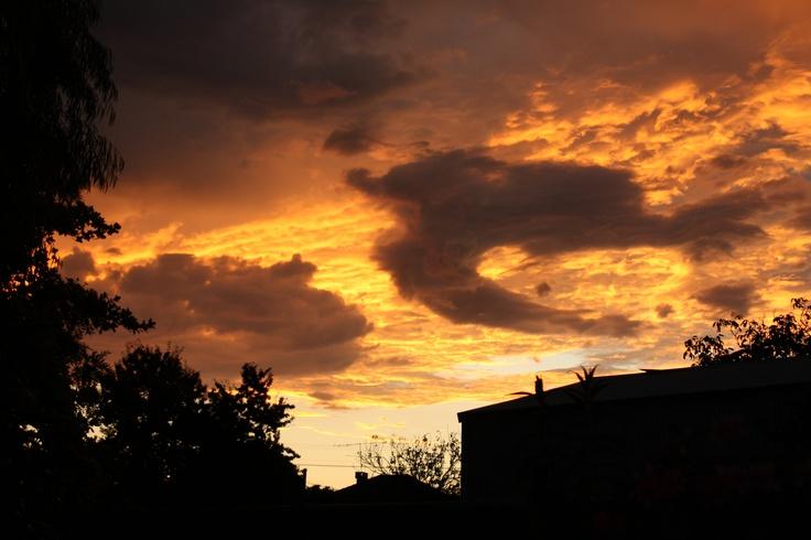 Sunset in Manjimup, Australia....Taken by Daphne Greenhow
