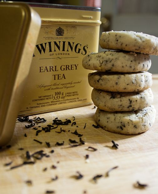 Earl Grey tea shortbread (calls for loose tea & use vegan butter & vegan approved sugar)