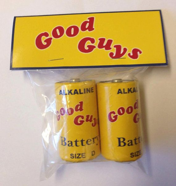 Childs Play Good Guy Doll Batteries Prop Replica on Etsy, $22.42