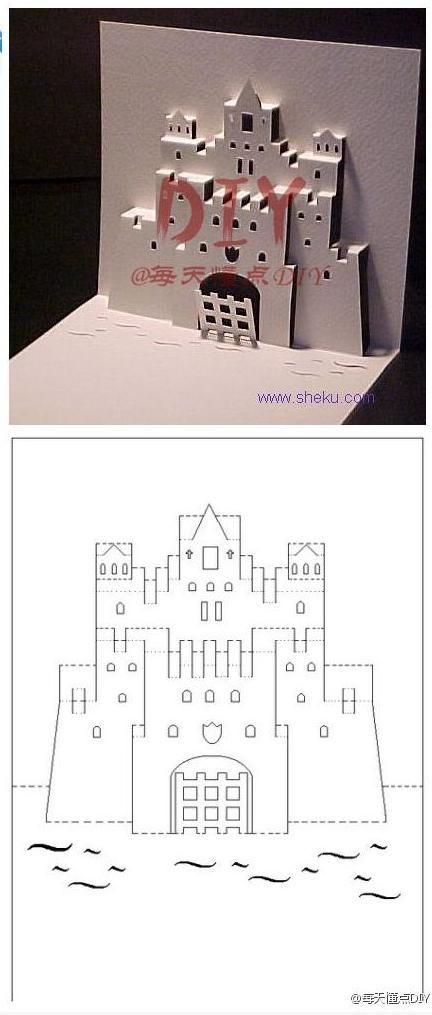 20120609132036_ezaYx.jpeg 432×1,015 pixels How to Make a Castle Pop up Card