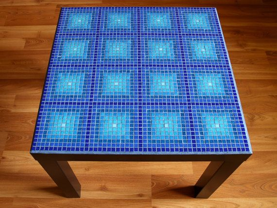 Blue Mosaic Table by BlueCatMosaic on Etsy