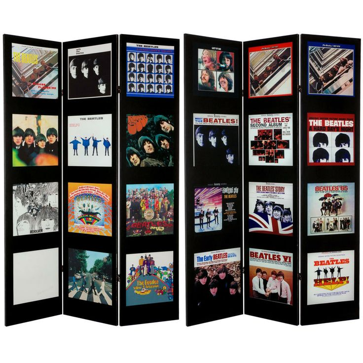 6-Foot Tall Double-Sided 'The Beatles Album Covers' Canvas Room Divider | Overstock.com Shopping - The Best Deals on Decorative Screens