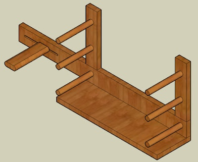 Making an Inkle Loom. Dad made me one once bit it broke and we never got around to fixing it:( I so want one of these