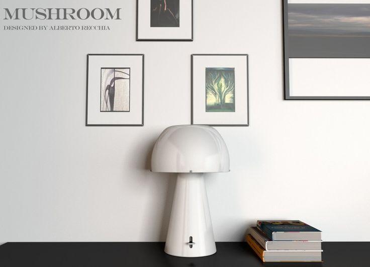 MUSHROOM è una lampada da tavolo molto delicata dato l'uso del materiale utilizzato. Il nome stesso fa capire da dove nasce l'ispirazione. Materiali: Ceramica smaltata lucidata o opaca.
