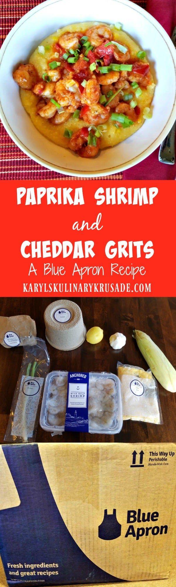 Blue apron quesadilla recipe - Paprika Shrimp And Cheddar Grits A Blue Apron Recipe