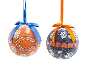 Chicago BEARS Christmas   Set of 6 NFL Chicago Bears Light- Up LED Ball Christmas Tree Ornament ...