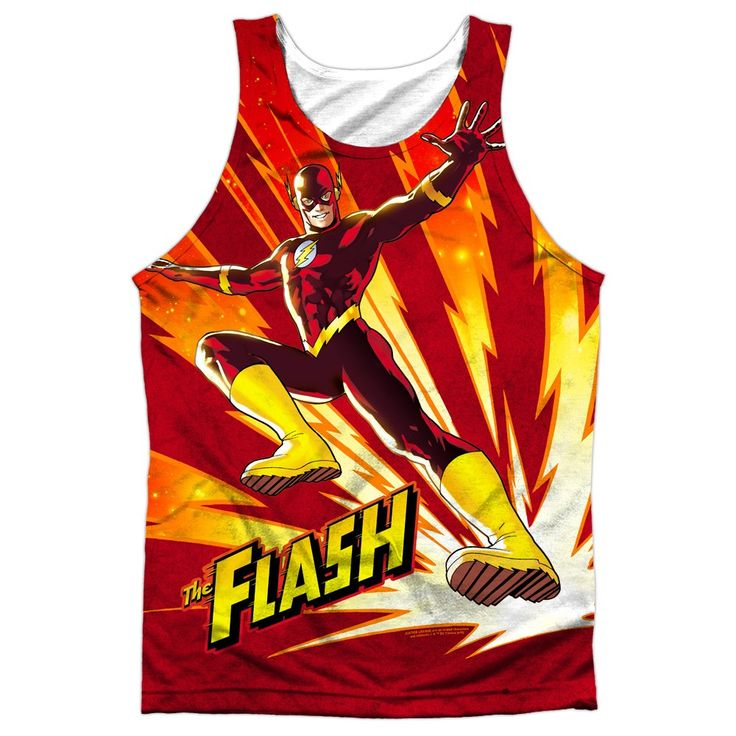 """Checkout our #LicensedGear products FREE SHIPPING + 10% OFF Coupon Code """"Official"""" Jla/lightning Fast-adult 100% Poly Tank T- Shirt - Jla/lightning Fast-adult 100% Poly Tank T- Shirt - Price: $24.99. Buy now at https://officiallylicensedgear.com/jla-lightning-fast-adult-100-poly-tank-shirt-licensed"""