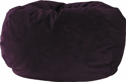 Fashion XL Faux Suede Teardrop Bean Bag Chair The Extra Large Bean Bag is Sturdy, Double Stitched, and has a Child Safe Zipper. A Fairview Suede in a Wine Color. 128 Circumference (L39 x W39 x H25). Comfortably Fits all Ages.