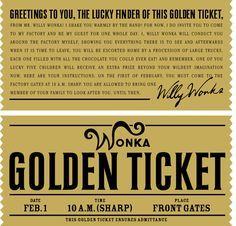 Willy Wonka Golden Ticket cakepins.com                                                                                                                                                                                 More
