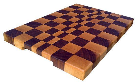 Walnut & Maple End Grain Cutting Board by NicheWood on Etsy #nicheboards #dreamsturnedwood