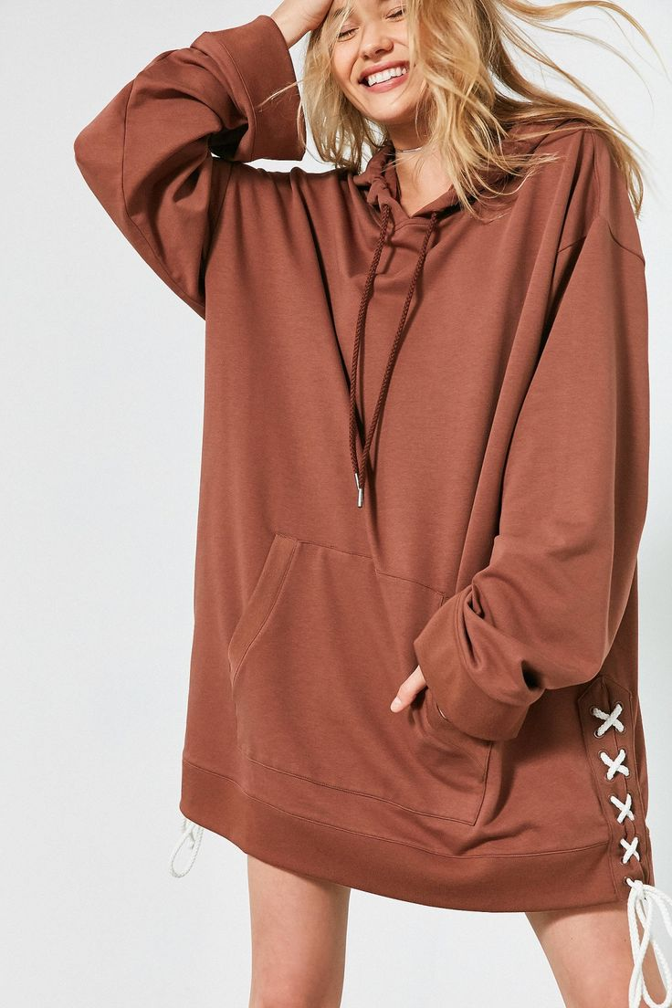 Slide View: 1: Puma Fenty by Rihanna Oversized Side Lace-Up Hoodie Sweatshirt