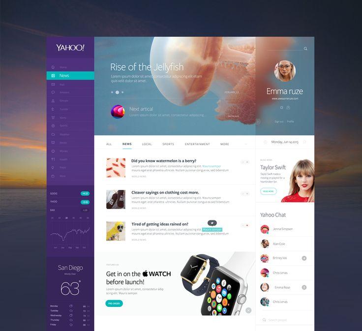 Yahoo website redesign concept | ik ben ijsthee blog
