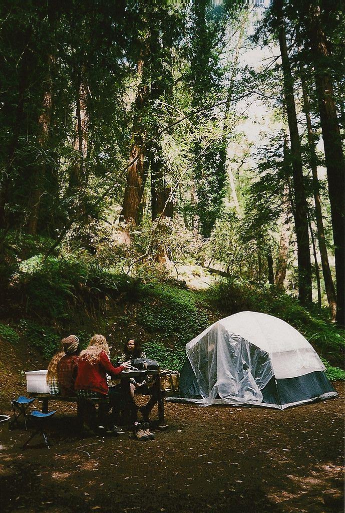 our campsite at big sur