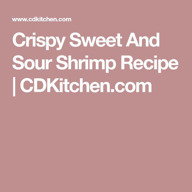Crispy Sweet And Sour Shrimp Recipe   CDKitchen.com